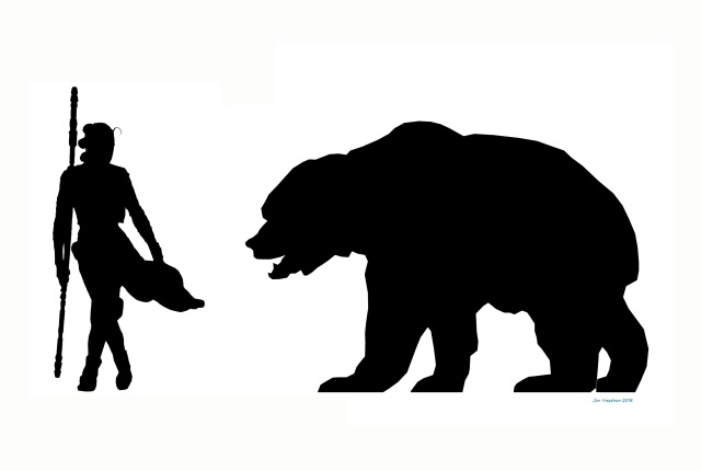 The Cave Bear was a very big species of bear!