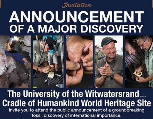 The announcement of the Homo naledi fossils took place at Maropeng under much fanfare. (Image Credit: University of the Witwatersrand)