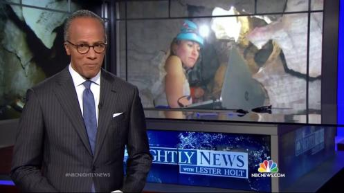 Rising Star and me on the news! (Credit NBC Nightly News, photo inset credit Elen Feuerriegel)