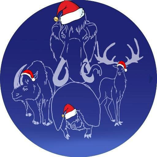 A very christmassy Twilight Beasts logo. (Art by Tabitha Paterson)