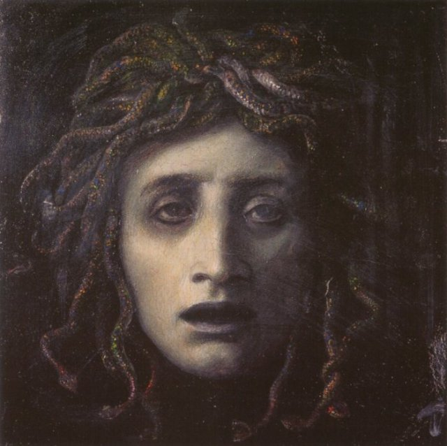 A somewhat chilling portrait of Medusa Medusa by Arnold Böcklin, circa 1878
