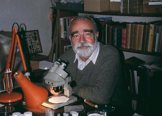 Professor Russell Coope, working in his home study during retirement (Image courtesy of AHOB and Sarah Lazarus)